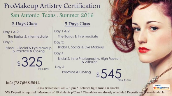 SUMMER MAKEUP CLASSES 2016